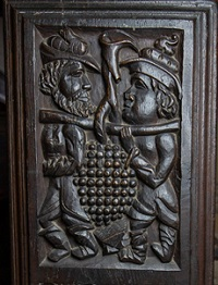 Grapes bench end
