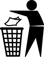 Put litter in a bin